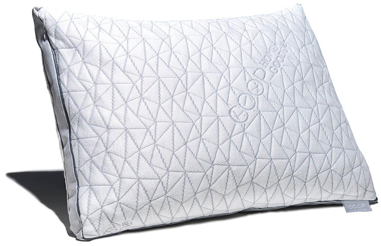coop home goods eden shredded memory foam pillow
