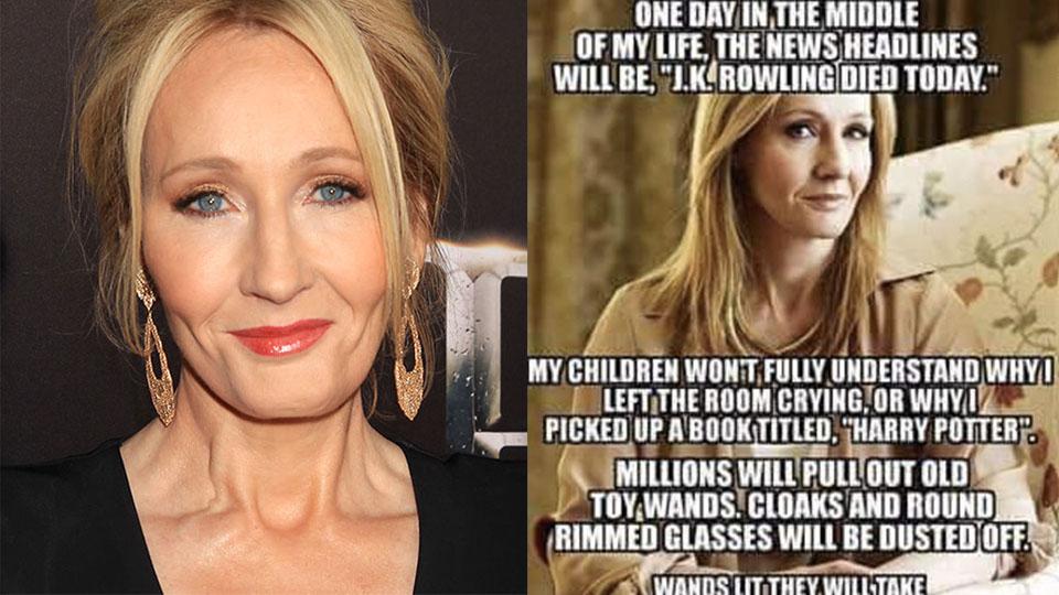 25 Funniest Jk Rowling Memes Some Bad Spoiler Of Harry Potter