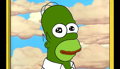 Frightening Pepe Homer Simpson Trading Card Sells For A Ridiculous