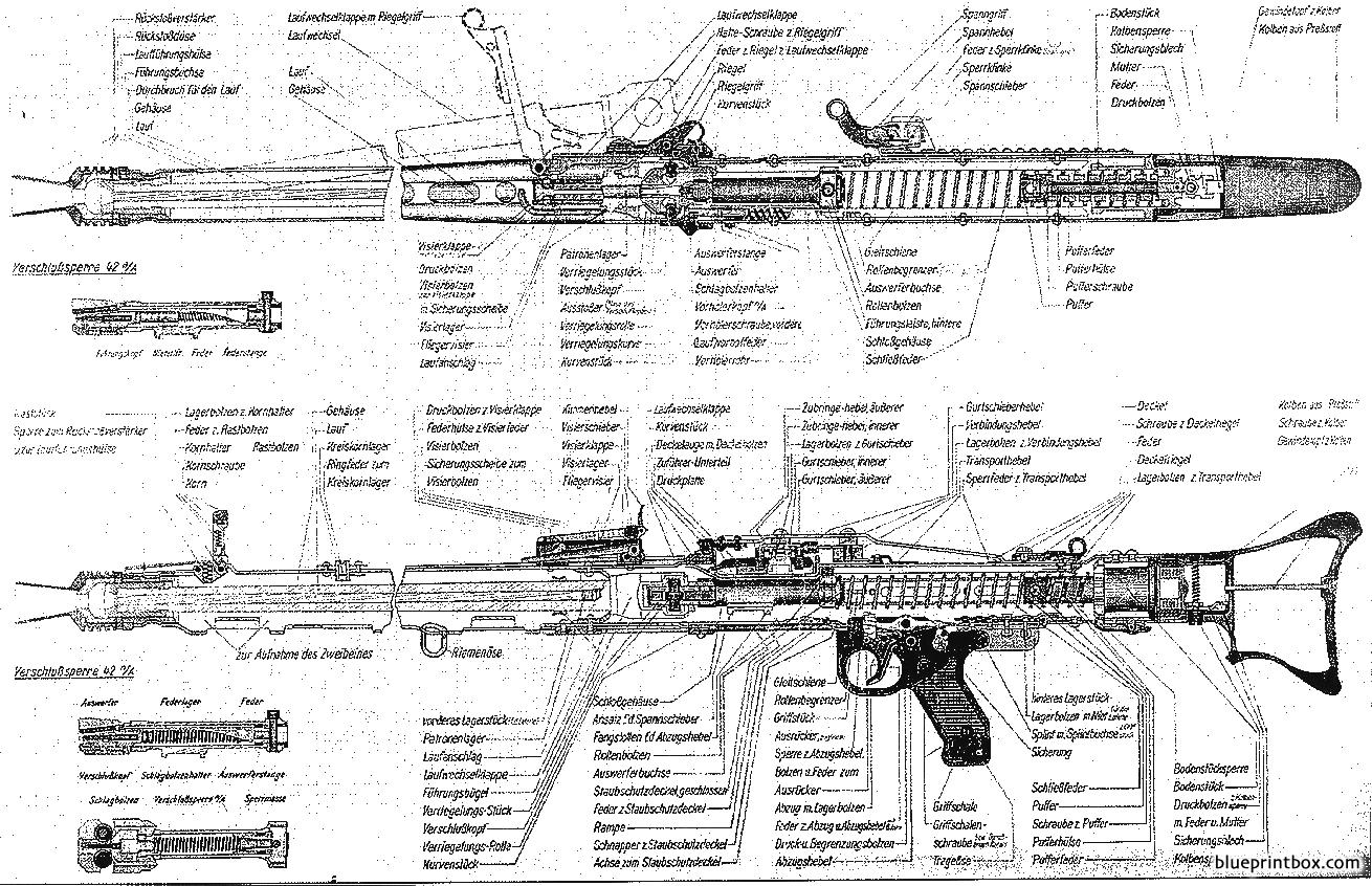 Mg42 Technical Drawing