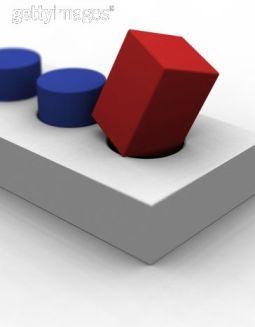 Evolution versus Facts: Square peg versus round hole.