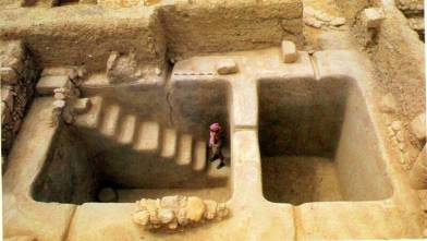 """Mikveh: Jewish baptismal pools used by those who needed """"cleansing"""" before going into the temple."""