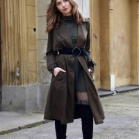 trench coat x dress