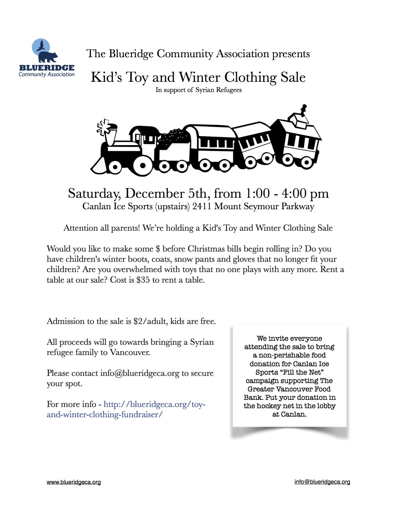 Kid S Toy And Winter Clothing Sale This Saturday Dec 5th