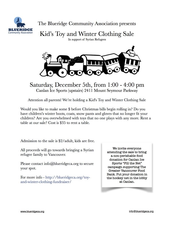 Blueridge Kids Toy and Winter Clothing Sale