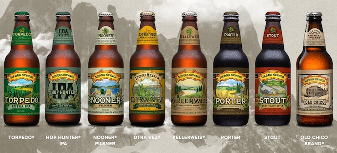 Varieties of Sierra Nevada Beers