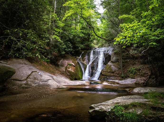 Widow Creek Falls at Stone Mountain State Park, NC