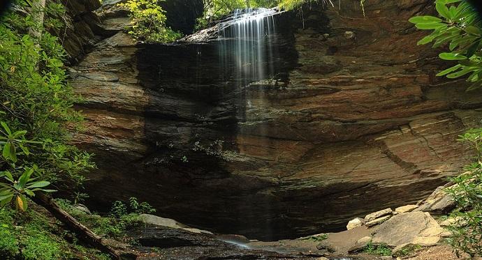 Moore Cove Falls in Brevard, NC