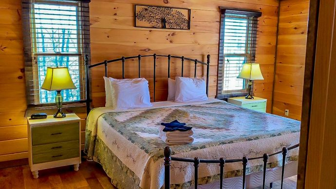 Master Suite at Wood Haven Retreat Cabin Rental in Blue RIdge, GA