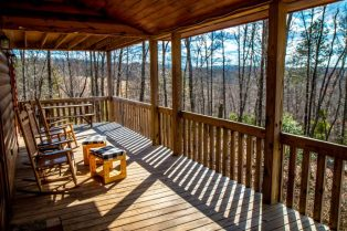 Rocking Chairs on Porch at Wood Haven Retreat in Blue Ridge Georgia