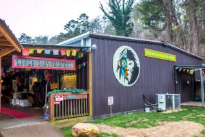 Exterior of Expedition Bigfoot Museum in in Cherry Log, GA