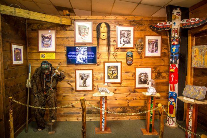 Native American Bigfoot Mythology Exhibit at the Sasquatch Museum in CHerry Log, GA