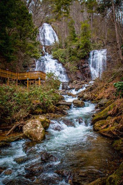 Anna Ruby Falls in Unicoi State Park near Helen, GA