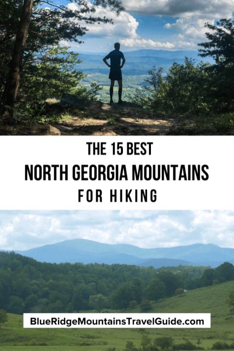 Hiking in North Georgia mountains