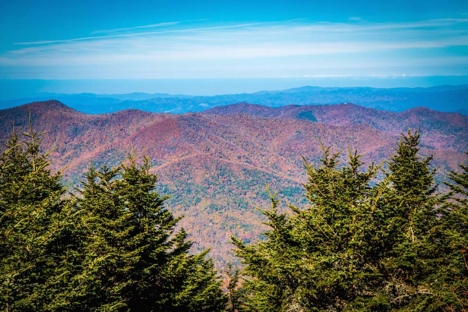 View from the Summit of Mount Mitchell NC
