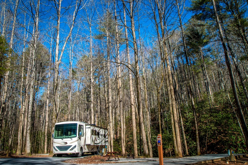 RV Camping at Unicoi State Park near Helen, GA