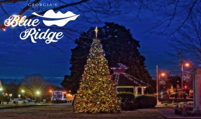 Christmas Tree in Blue Ridge, GA