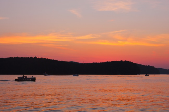 Sunset on Lake Allatoona near Red Top Mountain State Park
