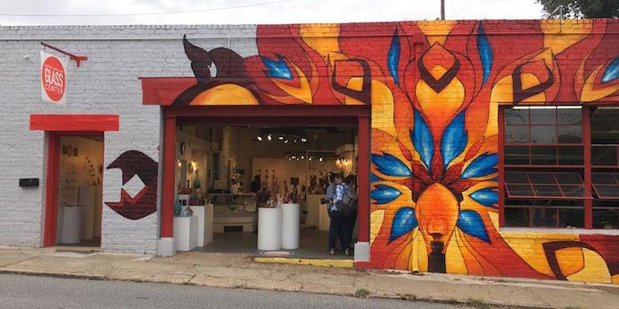 Exterior Shot of North Carolina Glass Center in River Arts District Asheville