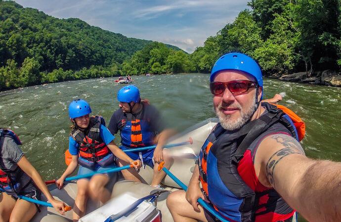 Rafting New River Gorge Selfie