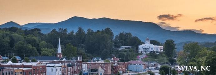 Sunset in Sylva, NC