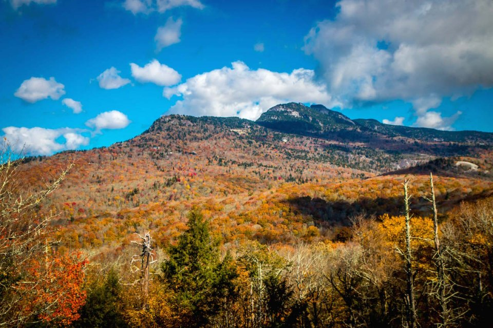 Fall colors in Grandfather Mountain State Park, NC