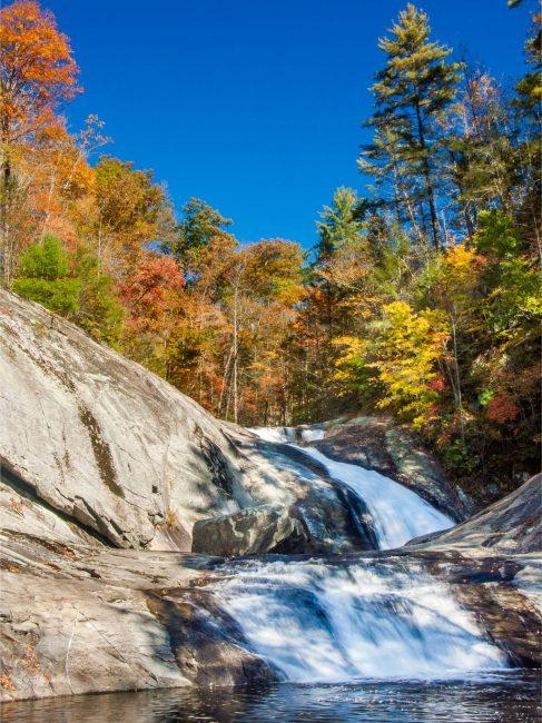 Fall Colors at Harper Creek Falls in Pisgah National Forest