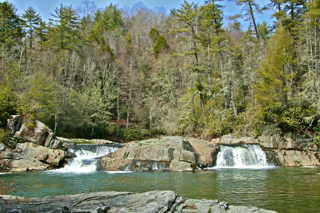 Linville Gorge Waterfall in Pisgah National Forest