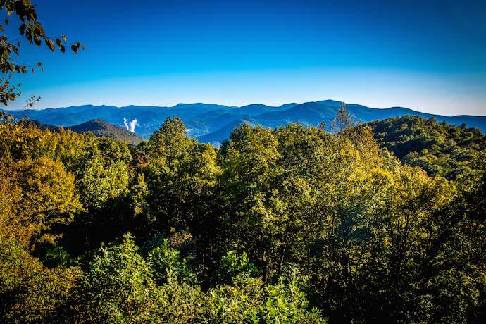 Rabun Bald Summit seen from Black Rock Mountain State Park
