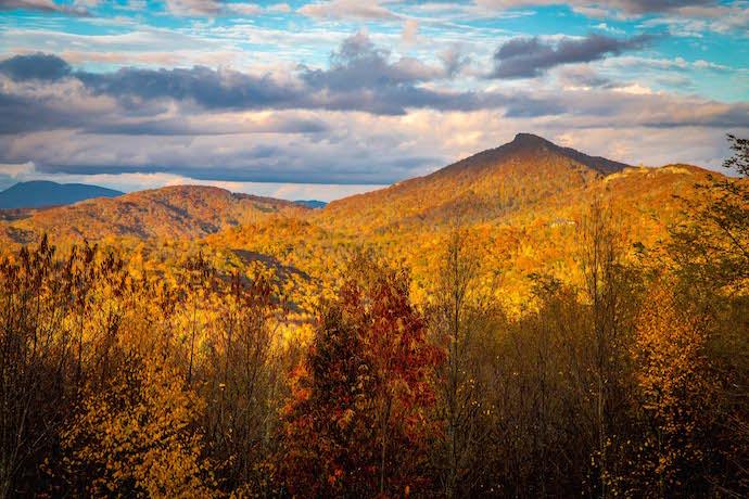 Sunset From Sugar Mountain Condo in Banner Elk, North Carolina