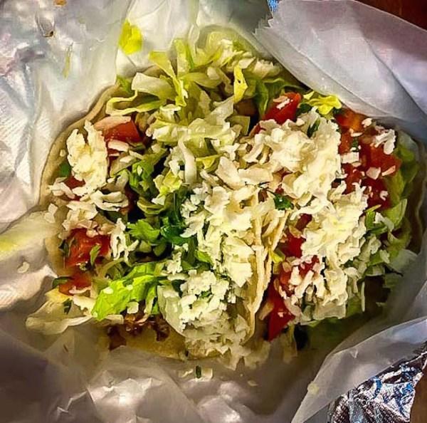 Tacos at Las Huastecas in Blue Ridge, Georgia