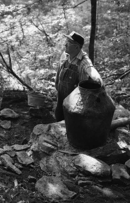 Moonshine DIstiller in Appalachia, mid-20th century