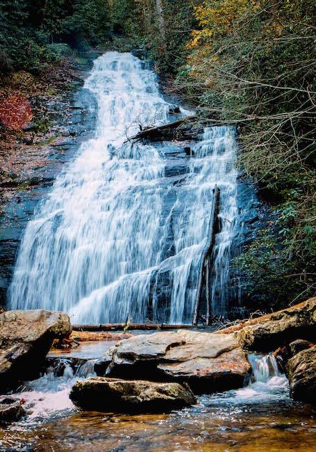 Closeup of Upper Helton Creek Waterfall