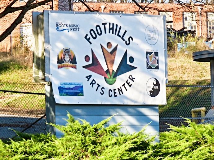 Foothills Art Center in Elkin NC