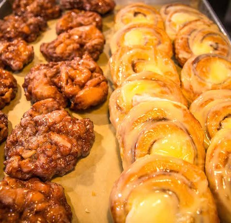 Fritters & Pastries at Sweet Shoppe Bakery in Blue Ridge GA