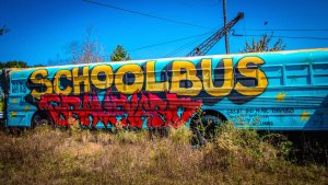 Schoolbus Graveyard in the North Georgia Mountains
