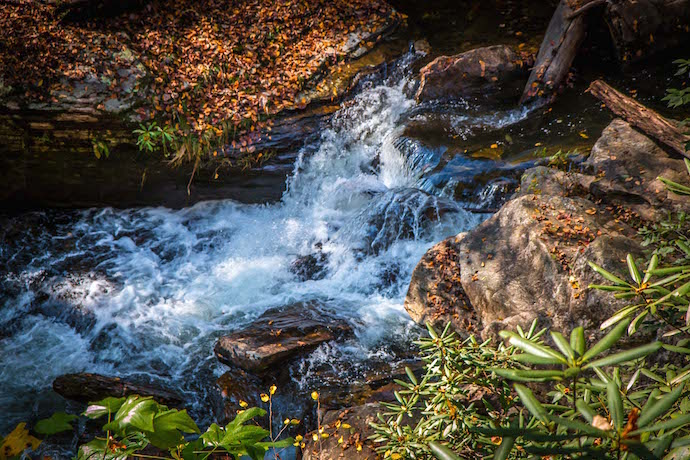 Base of Dukes Creek Falls near Helen Georgia