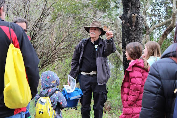 Naturalist Guide Leading Tour at Chattahoochee Nature Center
