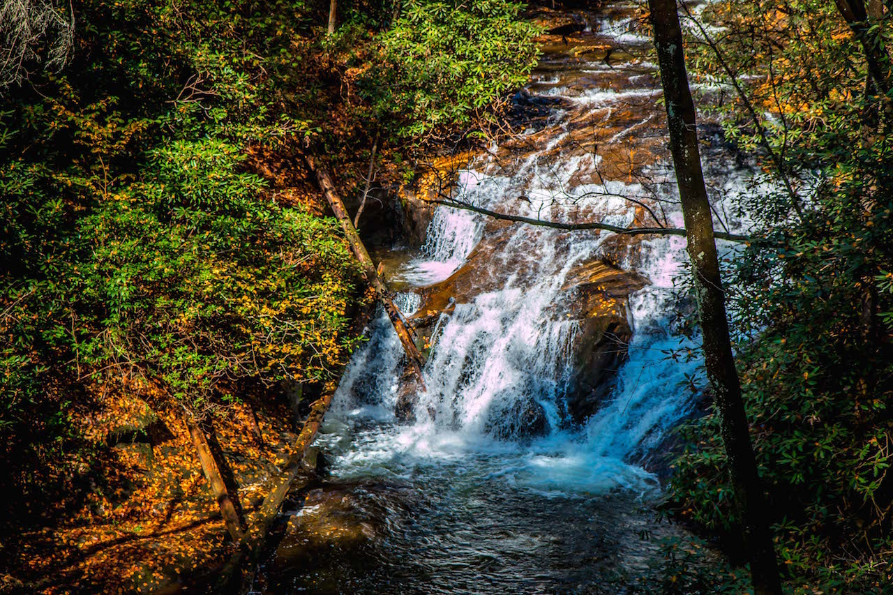 Small Cascades at Dukes Creek Falls near Helen GA