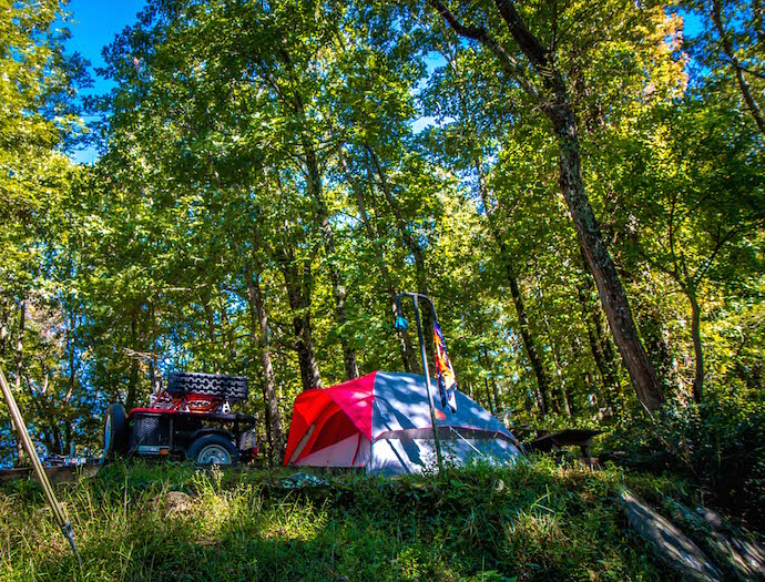 Black Rock Mountain State Park Camping Area