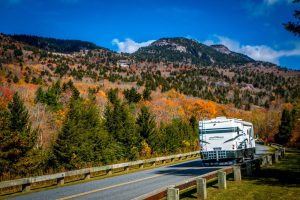 RV on Blue Ridge Parkway at Grandfather Mountain NC