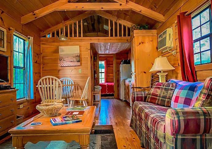 Interior of Engadine Cabins Near Asheville NC