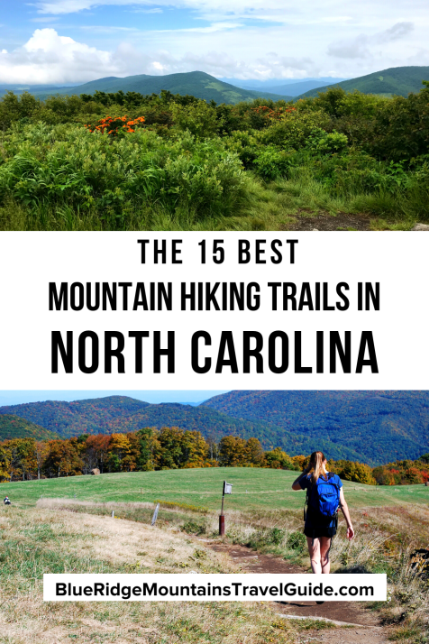 The 15 Best Western North Carolina Mountains For Hiking including mountains near Asheville, Boone, Brevard and Bryson City. | hiking in nc | hiking trails in north carolina | best hikes in north carolina | western north carolina | hiking near asheville nc | best hiking trails in nc | nc mountains | highlands nc hiking | backpacking in north carolina | hiking near hendersonville nc | hiking near brevard nc | hiking near bryson city nc | hiking near highlands nc |