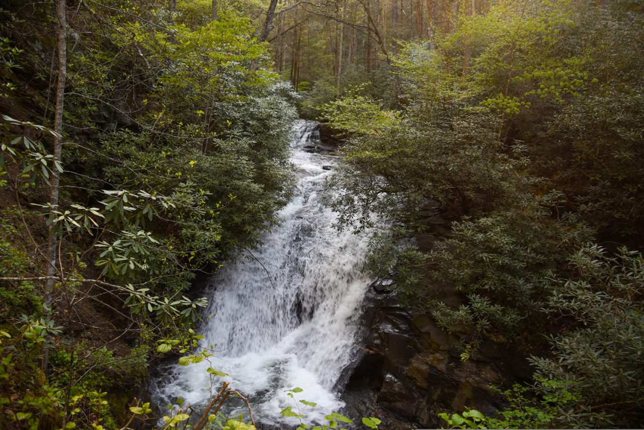 Sea Creek Falls in Suches GA, one of the best waterfalls near Blue Ridge)
