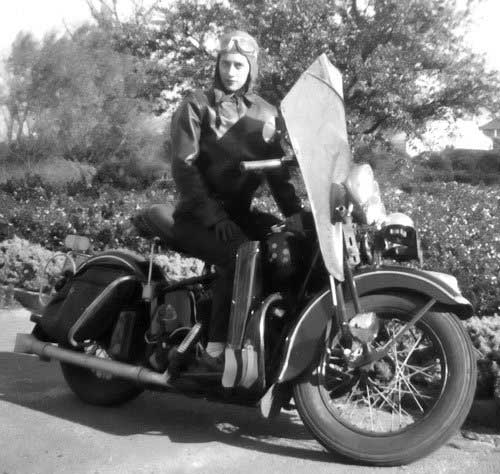 Mom and her Harley in 1946