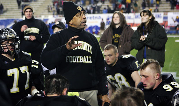 Coach Winifred Beale at 2008 State Championship game.