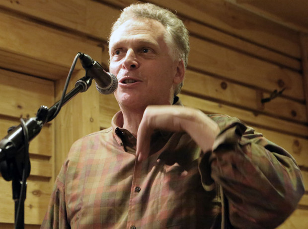 Virginia Gov. Terry McAuliffe campaigning in Floyd before last year's election.