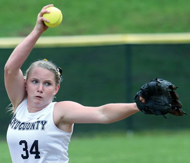 Floyd's Christine Phillips:  Power on the pitcher's mound and behind the plate.