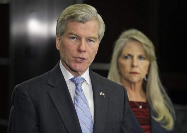Virginia Gov. Bob McDonnell and his wife, Maureen.  (AP Photo/Steve Helber)