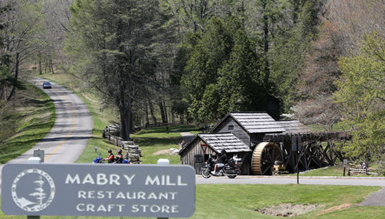 The Blue Ridge Parkway's trademark Mabry Mil.